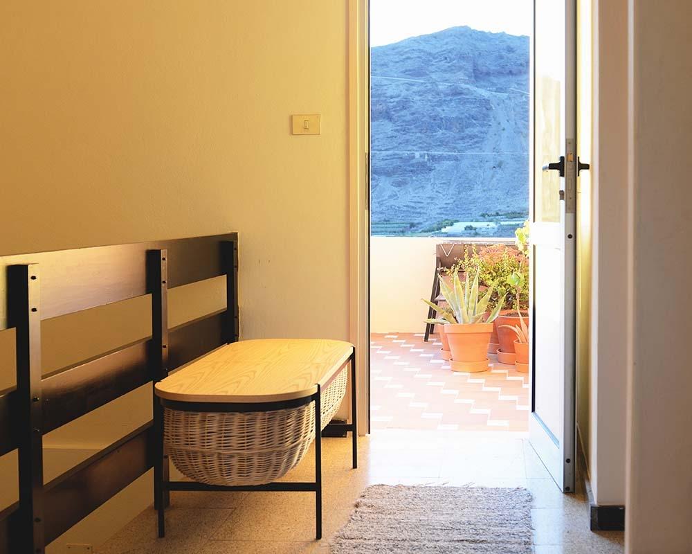 Door to the Peach terrace